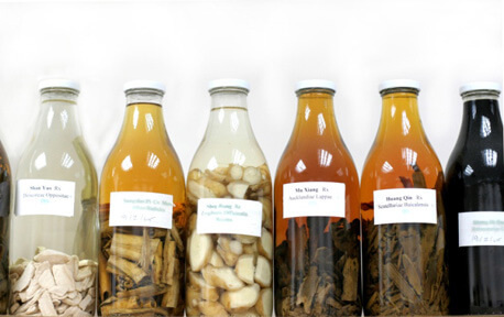 Бутылки с травами